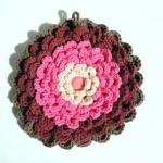 Ruffley Flower Potholder